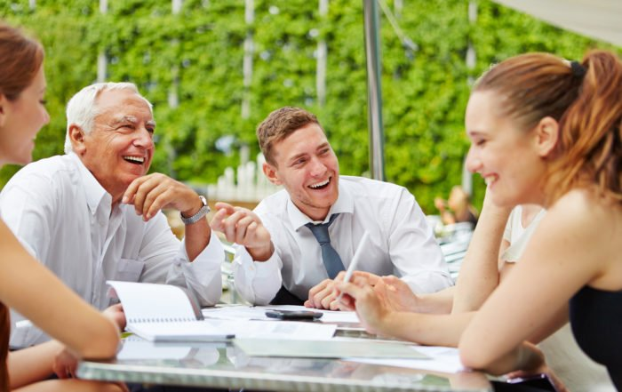 Retreat Planning-Happy Business Team Laughing