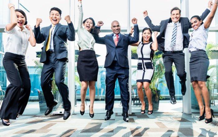 Business Team Cheer