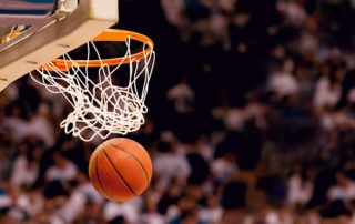 Record-Setting Performance-Scoring the winning points at a basketball game