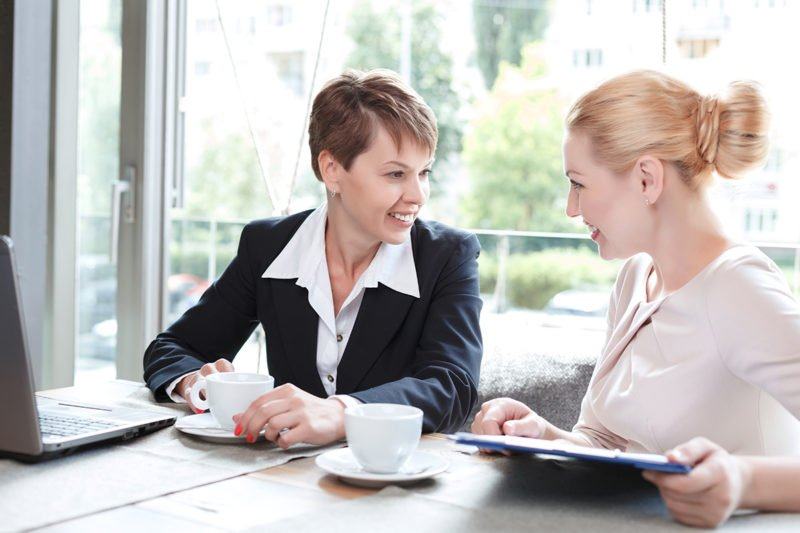 Business Development for Introverts Businesswomen during a business lunch